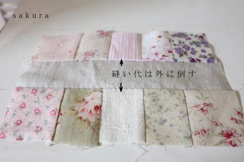 パッチワークフレーム縫い方