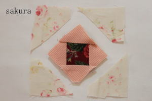 パッチワークパターンバラ縫い方