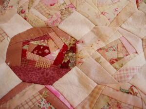 バラのパターンのタペストリー
