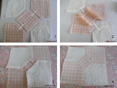 パッチワーククッションボウタイ縫い方