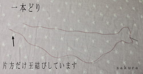 縫い糸一本どり画像