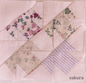 パッチワークパターンミックスT縫い方