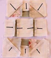 パッチワークモンキーレンチ縫い方裏