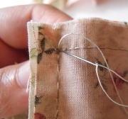 四角パッチ返し縫い