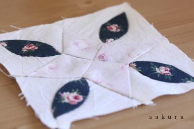 パッチワーク睡蓮縫い方