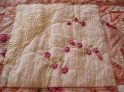 バラのリボン刺繍