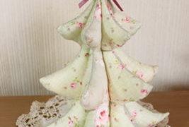布クリスマスツリー作り方